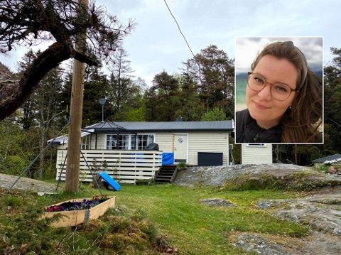 HØRTE SKRIK: Adine Wenner (27) var på hytta med samboeren og familien da de plutselig hørte skrik. – Det tok litt tid før vi skjønte det kom fra inni hytta, sier hun. Foto: Privat