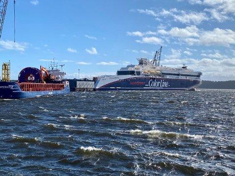 UVISST: Det er foreløpig ikke avklart om det er noen på Superspeed, som seiler mellom Larvik og Hirtshals, som må slutte når Color Line skal redusere med om lag 300 årsverk.