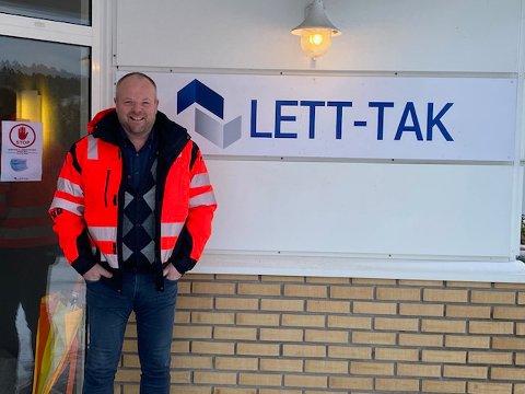 I SJEFSTOLEN: Johan Aas har nå overtatt som ny daglig leder i en av Larviks største industribedrifter.