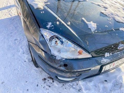 BULK: Dette var neppe slik Monica Hedel ønsket å finne bilen sin.