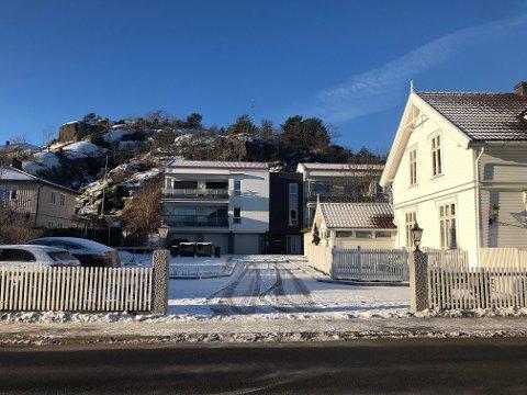 KONFLIKT: Det har oppstått konflikt rundt eiendommen Larviksveien 19 fordi eiendommen i dag har mindre uteareal enn det byplanene tilsier.