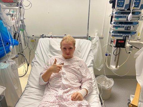 Jacob Berg (20) håper han har vært gjennom nok dramatikk for noen år fremover nå. Til uka gjør blir han endelig skrevet ut fra sykehus.
