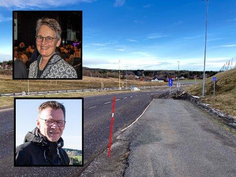 IKKE FORNØYD: I et åpent brev til veimyndigheter og politikere setter fem næringslivstopper, inkludert Merete Berdal og Morten Riis-Gjertsen, store spørsmålstegn bak kommunestyrets vedtak 10. februar.
