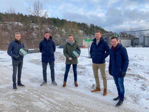 HELT NYTT: Et knippe kjente fjes går nå sammen for å gi Larvik et tilbud som aldri har vært å finne her tidligere. Fra venstre: Tom Erik Spartveit, Jesper Mathisen, Eimund Tharaldsen, Anders Juul-Vadem og Andreas Nilsson.