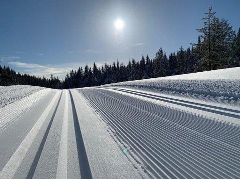 DRØMMEFORHOLD: De fleste skientusiaster får nok lyst til å ta turen hit når de ser dette bildet.