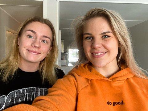 RIVALER UNDER SAMME TAK: Oda Olsen (til v.) har bodd sammen med Anette Sundfær i Porsgrunn i snart fire år. Foto: Privat