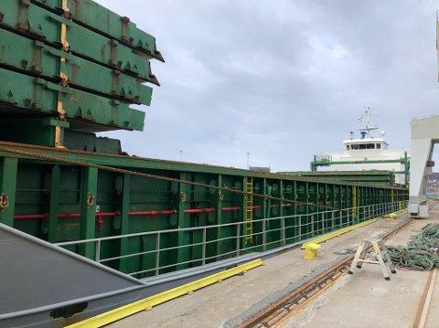 LASTESKIP: Det var her, på lasteskipet Scot Leader, ulykken fant sted tirsdag morgen.