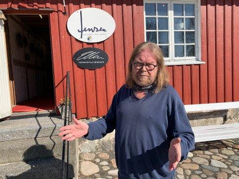 GIR SEG IKKE: Keramiker Geir Jensen gir seg ikke, selv etter både konkurs og kommende pensjoniststatus.