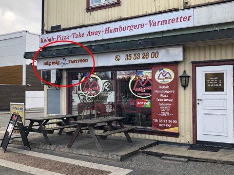 BYTTER NAVN: Her kommer det snart opp nye skilt etter at en del kunder har reagert på navnet. Foto: Per B. Johansen
