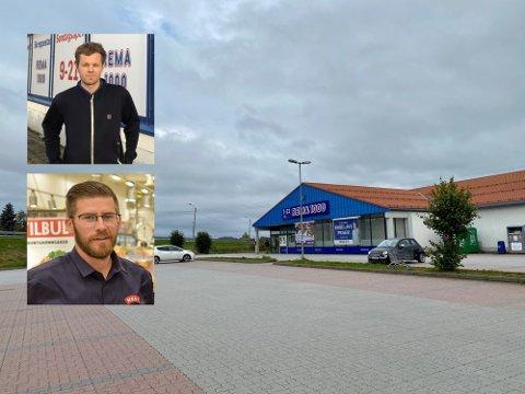 SØNDAGSÅPENT: Chris Hammerkvist (øverst) er kjøpmann på Rema 1000 på Skreppestad. Øyvind Polsrød (nederst) er kjøpmann på Meny Øya. De har ulik oppfatning av det å ha åpen dagligvarehandel på røde dager, som 1. mai.