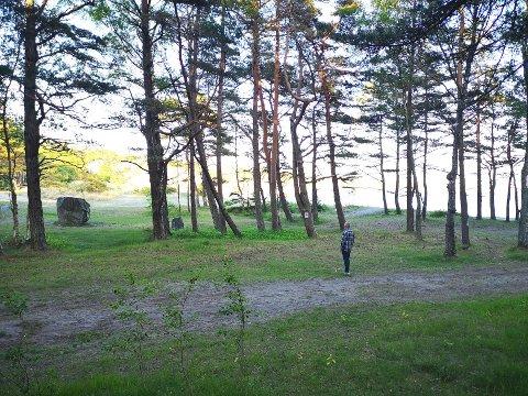 TAR SEG TIL RETTE: Stadig vekk må driverne av Ula Camping jage bort hengekøyeturister som tar seg til rette på stranda i Ula.