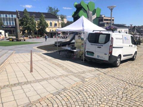MOBIL: Denne teststasjonen blir å se flere steder i kommunen i sommee.
