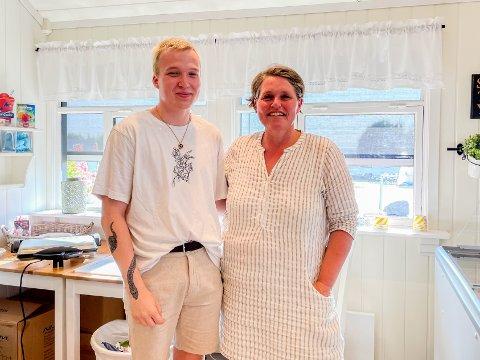 FULLT KJØR: Hos Ruben Nordrum og Kristin Lunde Rogn går det så det suser, og det er aldri folketomt i butikken.