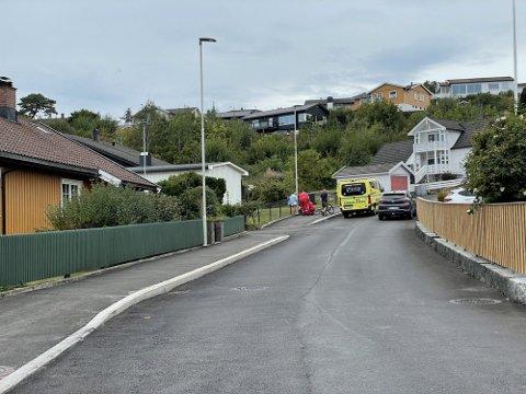 KRAFTIG SMELL: Ulykken skjedde i bunnen av Vardeveien like etter klokken 17 tirsdag ettermiddag.