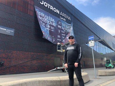 AVLYSER: Pål Borgersen hadde store planer for året Spetakkelfestivalen i Jotron arena. Nå er den avlyst.