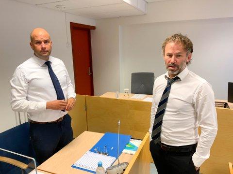 PSYKIATRI: Åsmund Yli og Andreas Nyhaug er henholdsvis aktor og forsvarer i saken mot 51-åringen.