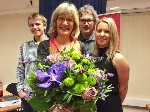 FIRE PÅ TOPP: Karin Andersen (1.) (i midten), Bersvend Salbu (2.) (til høyre), Hilde Mari Bjørke (3.) og Sigurd Arnekleiv Bækkelund (4.)