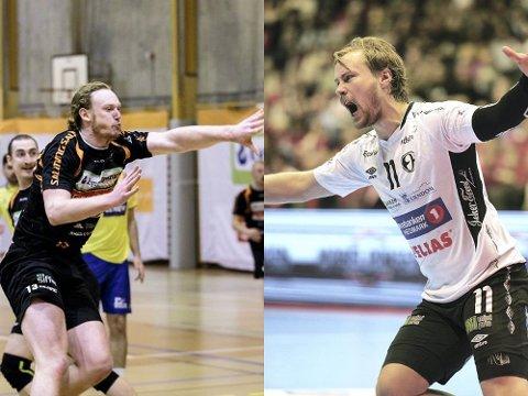 HØYRE BAKSPILLER: Gabriel Setterblom (t.v.) og Nikolaj Mehl. Foto: Wille/Østlendingen