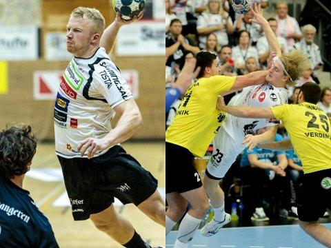 MIDT-DUELLEN: Trym Bilov-Olsen (t.v.) og Magnus Fredriksen. Foto: Wille/Østlendingen