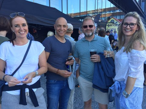 KLARE FOR KONSERT: Anja Terjesen, Nils Tore Andersen, Ronny Øfsteaas og Anne Øfste