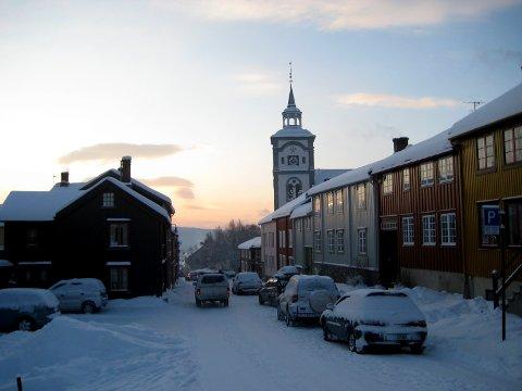 RØROS: Røros ligger nå i Trøndelag fylkeskommune. Sør-Trøndelag fylkeskommune er historie. (Foto: Bjørn-Frode Løvlund)
