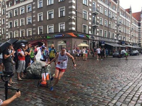 IMPONERTE PÅ ØVELSEN KNOCK-OUT SPRINT under siste runde av verdenscupen i orientering gjorde Jon Aukrust Osmoen.