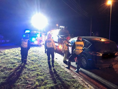 STAKK AV: Bilisten stakk av, men politiet har nå fått kontakt med henne. Foto: Per Stokkebryn