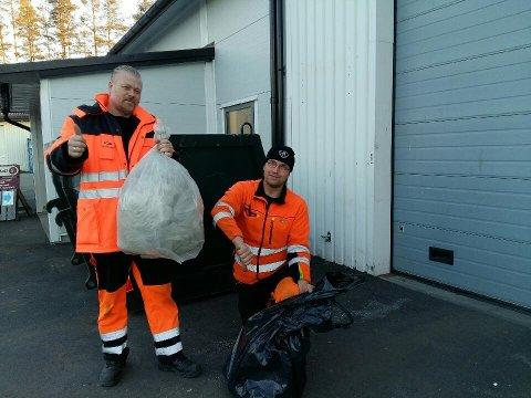 KLARE SEKKER: Fra 1. januar ønsker SØIR at du folk skal levere restavfallet i klare avfallssekker på gjenvinningstasjonene. Fremdeles kan du kaste søppelet hjemme i andre typer poser.