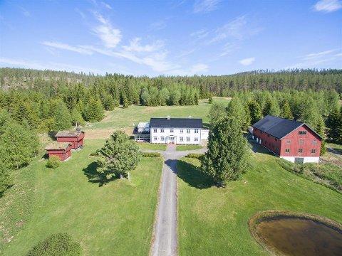 IDYLLISK: Gården har foruten hovedhuset, flere bygninger tilknyttet eiendommen. (Foto: Aktiv Elverum)