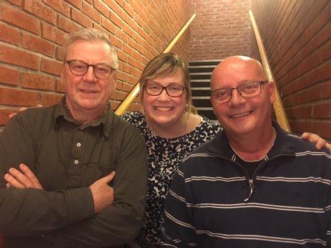 TOPPTRIO: De tre toppkandidatene til Samlingslista i Engerdal foran høstens kommunevalg: Fra venstre Jan Aage Røtnes, Line Storsnes og Lars Erik Hyllvang.