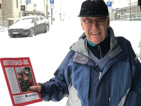 SISTE: Joar Hagen i Østerdals-Jul holder det som ligger an til å bli siste utgave av Østerdals-Jul. – Etter 40 år med ansvaret for annonse- og løssalget av Østerdals-Jul er det på tide å gi seg.