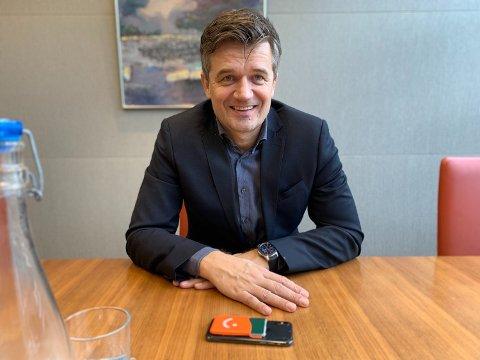 AMBISIØS: Rune Garborg er sjef for Vipps. Foto: Halvor Ripegutu