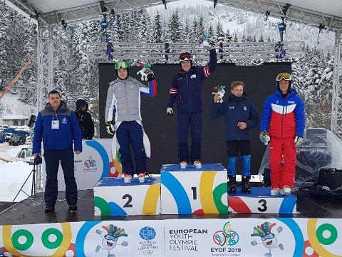 GULL: Andreas Amdahl fra Trysil tok gull i storslalåm i ungdoms-OL torsdag.