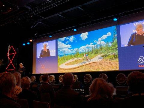 FIKK SKRYT: Trysil fikk skryt for sin helårssatsing av statsminister Erna Solber under NHO Reiselivs årskonferanse i Oslo tirsdag.