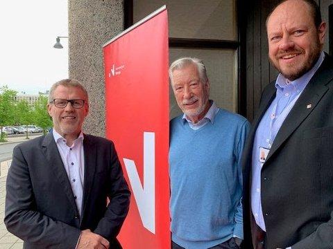 Leon Bakkebø, divisjonsdirektør i Innovasjon Norge, Sigbjørn Johnsen, styremedlem i Innovasjon Norge, Tron Ola Lundby, konstituert direktør i Innovasjon Norge Innlandet.