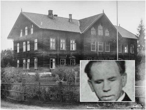 PIONÉR: Erik Harildstad (1886-1969) fra Løten var Norges første blinde lærer. Lærerutdanningen tok han i Elverum. Bildet av Harildstad er fra Norske skolefolk, publisert i 1952.