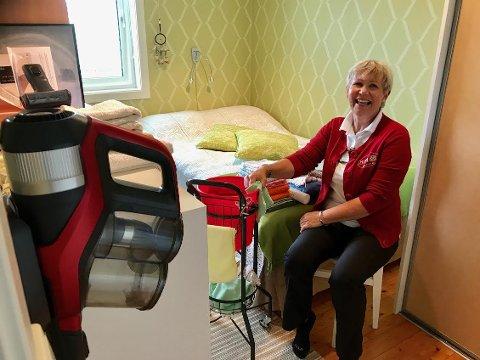 HER STARTET DET: På dette lille soverommet startet Heidi Marie Framvik sitt eget hushjelp og regjeringsbyrå som i dag har 12 ansatte.