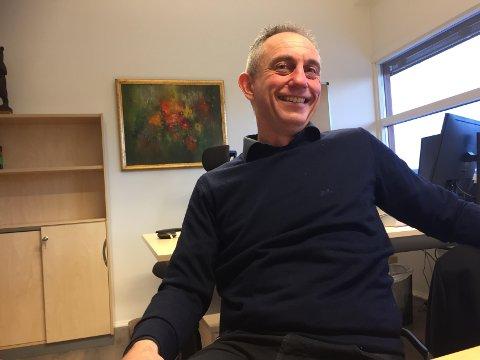 FORNØYD: Administrerende direktør, Gudmund Nordtun i Glommen Mjøsen Skog,  ønsker full kontroll i Moelven Industrier. (Foto: Gunnar Østmoe)