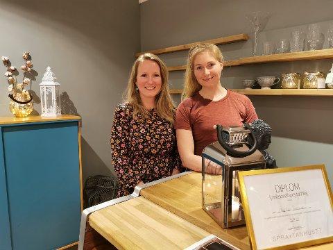EGEN LITEN KROK: I lokalene ved siden av Hartz Dental i Garvergården leier May Linn og Thea lokalet som de begge drifter sitt enkeltpersonforetak i.