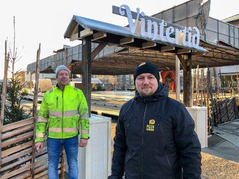 VINTER: Arne Grønnesby (til venstre) og Christian Eckbo skryter av dugnaden som ligger bak Vintertid.