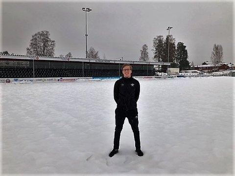 NYE OPPGAVER: Andreas Gulbrandsen (21) blir assistenttrener på A-laget. Det gleder han seg stort til.