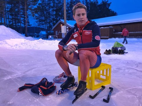 PÅ HJEMMEBANE: Ole Bjørnsmoen Næss klinket til med banerekord hjemme på Nytrømoen før helgen. Den lyder nå på 1.55,6.