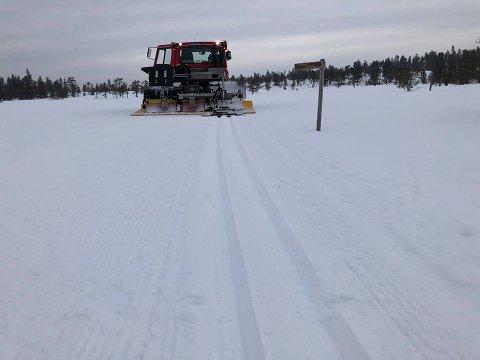 GODE FORHOLD: Det meldes om gode skiforhold både på Flishøgda og på Budor i påsken.