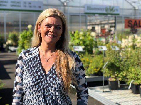 GOD SESONG: Blomsterkroken og daglig leder Liv Øverby Bjørnebye har all mulig grunn til å være fornøyd med 2020-sesongen.