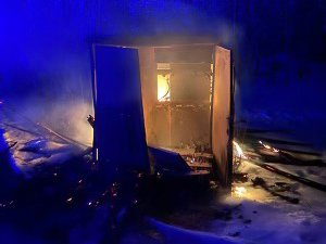 BRANN: Dette er transformatorkiosken som brant ned i morgentimene onsdag.
