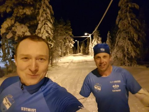 LEDERGRUPPA: Erlend Olsen (t.v) og Ingar Kristiansen er i ledergruppa for rennet. Overskuddet for rennet går lokalbefolkningen og hytteeierne tilgode iform av skiløyper.