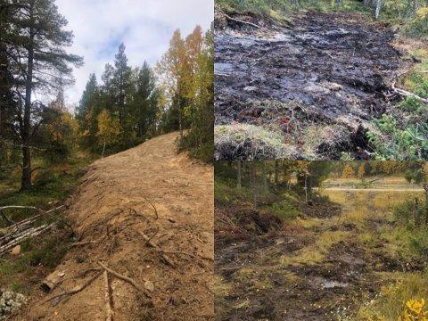 INNGREP: Kommunen krever at Savalen Turlag må tilbakeføre inngrep i terrenget som er gjort for å anlegge ny løypetrasé.