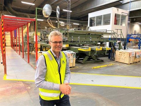 FORNØYD: Administrerende direktør Terje Sagbakken har nå vesentlig større tro på at det kan bli løsning for planene om ny rensefabrikk for retuttre på Forestia i Våler,