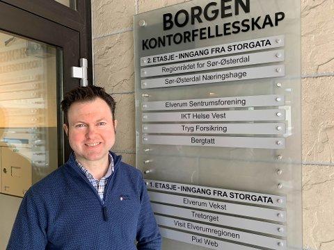 VILLE HA: Yngve Sætre visste han ville ha jobben i Sør-Østerdal næringshage med en gang han så stilingsannonsen.