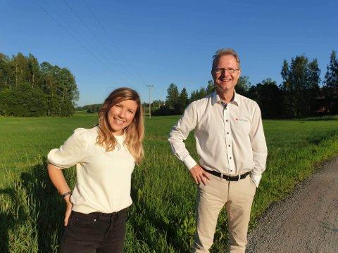 UTRYGT: Anna Molberg (H) og Tor André Johnsen (Frp) går et usikkert stortingsvalg i møte, etter HAs siste måling.